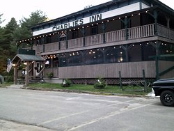 Charlie's Inn in Lake Clear, NY... nice rustic bar and eatery popular among motorcyclists