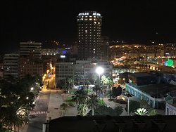 Night view from roof bar