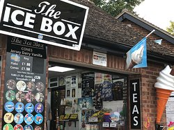 """The """"Ice Box"""" for teas, ices and nick-nacks"""