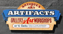 Artifacts is an art gallery and offers instruction as well as being an antique shop!
