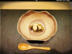 Shinogi: Japanese Abalone Ojiya, Soy Milk Mousse