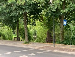 Lovely park and river across the road from Hotel Club 2CV