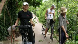 cycling in the Mekong Delta.