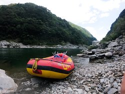 The first experience of rafting in beautiful river!