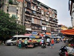 Outside Hanoi Market.