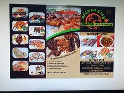 Afghan star menu