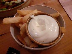 Friet met vegan mayonaise
