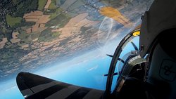 Doing a roll in Spitfire somewhere over Kent