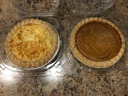 Coconut and Pumpkin pies.