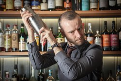 This is Andrew from the Hey Palu team mixing up one of our Italian influenced cocktails.