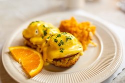 Eggs Benedict;The Old Brick Cafe at the Wrightson-Jones House.