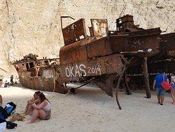 Shipwreck Beach, Zakynthos Island, Ionian Sea, Greece