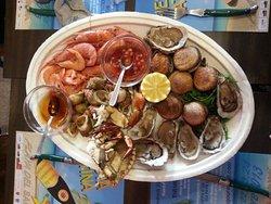 Plateau de fruits de mer, sur commande