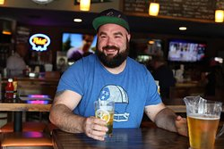 Come watch your hometown team every Sunday and enjoy draft beer specials at the same time.