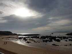 Una de las playas que rodean la península.