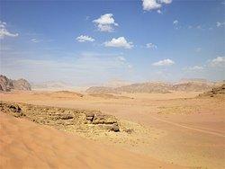 Il deserto di Wadi Rum.