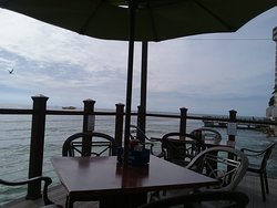 Our table view right on the Gulf!