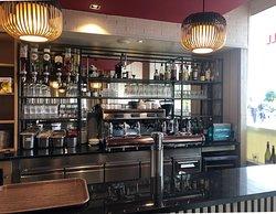Courtepaille Rambouillet - Intérieur, zoom sur le bar, c'est là qu'on paie !