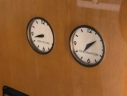 Cool clocks inside the Columbine  - Used by President Eisenhower