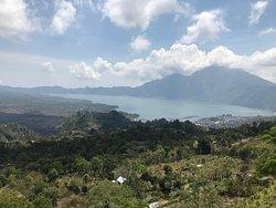 Lake at the top of Mt Batur