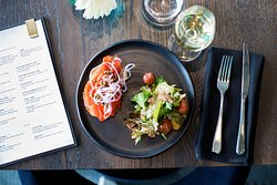 Light and refreshing - smoked salmon on toast for breakfast. The brunch menu has a lot to offer