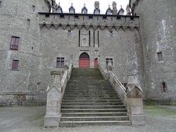 L'escalier d'accès au château