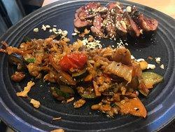 Wok de légumes thai et son canard laqué