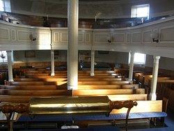Inside the round church, Bowmore