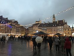 Warsaw Old Market during Christmas time