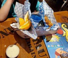 Kids Meal with popcorn shrimp