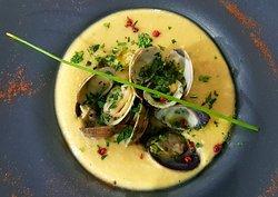 Crème de pois-chiches & palourdes Chickpeas and clams soup cream