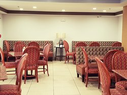 Renovated Breakfast and dining room at Travelodge Fort Wayne Indiana Including 24 hour Business Center, 24 Hour Fitness Center, 24 Hour Coffee and Tea Bar, 24 hour Lobby High Speed Internet