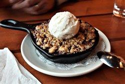 Mixed Berry Crisp with Vanilla Ice Cream