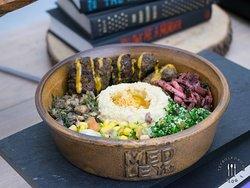 Beef Kofte with Hummus + Pita