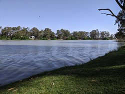 Sitting by the Murray River