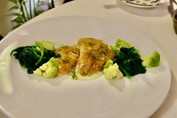 Another beautiful white fish dish with spinach and broccoli