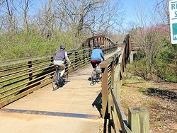 greenway cuts through woods between fortress rosecrans and stones river