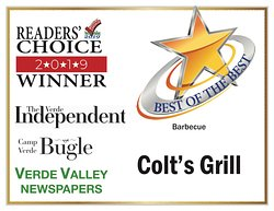 Another award! How nice! Best BBQ - Verde Valley Newspapers