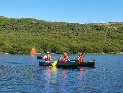 Family Canoeing on Coniston