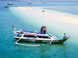 Sand island located closed from pink beach destination.  Enjoy your trip in my land  Omjay lombok private trip