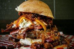 The Chili Cheese Slaw Massive Burger