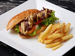Best Selling! Grilled Beef Sandwich 220THB