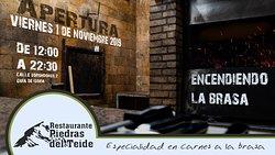 Apertura del Restaurante Piedras del Teide, en Calle Sorondongo, 2, Guía de Isora. Disfruta de las mejores carnes a la brasa.