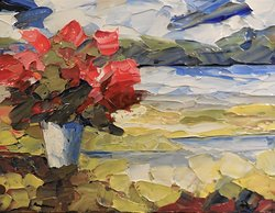 ''Bouquet Moderne'' - 12'' x 16'' by Richard Riverin