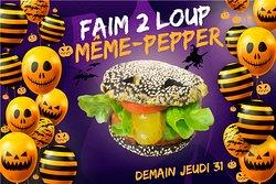 Oyez Oyez, Menu Même-Pepper pour Halloween