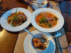 great food, i recommend the tom yum soup.