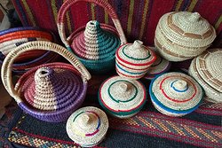 Beautiful African baskets items from Shalateen south of Egypt