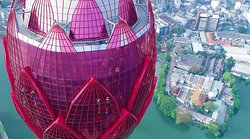 """The Lotus Tower as known as """"nelum kuluna - නෙළුම් කුළුණ located in Colombo, Sri lanka. The height of the Lotus Tower is 356m (1,168ft). it reflects as iconic landmark of Sri Lanka. It is the tallest human creation in the South Asia and also 11th completed tower in South Asia and 19th tallest tower in the world. The Lotus tower is located on the waterfront of Beira Lake - """"බේරේ වැව"""" and alongside a part of the D. R. Wijewardene Mawatha Colombo Sri Lanka  View more : thelotustower.com"""