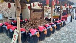 Stalls selling wine at Shuidonggou Site
