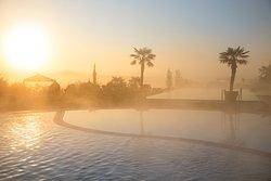 Romantische Morgenstimmung im Hotel Larimar.